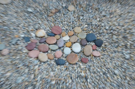 skillfully: Colored smooth stones polished by Baikal Lake. lense effect