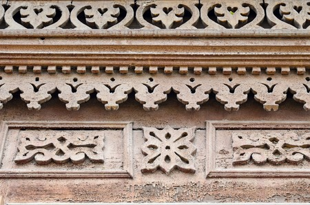 architectonics: The carving decorative element of the the wooden house. Russia