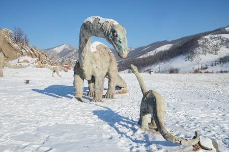 alpine zone: Dinosaur Valley in winter. Terelj National Park, Mongolia