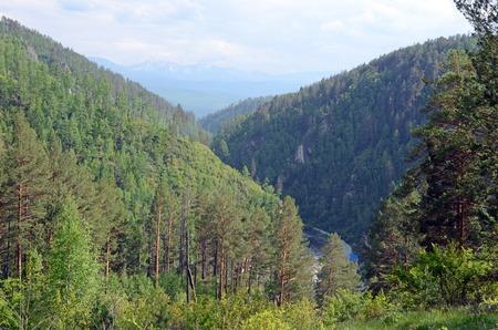 spurs: Ikhe-Uhgun River valley in spurs of the East Sayan. Buryatia