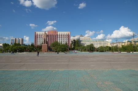 Chita, RU - Jul17 2014: Lenin Square - the central square in Chita, Transbaikalia edge, Russia Editorial