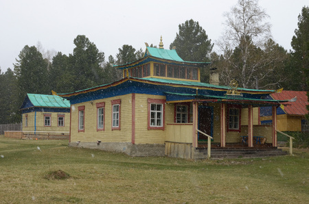 Arshan,Ru-May, 02 2014: Hoymorsky datsan Bodhidharma -Buddhist temple monastery in Arshan settlement of Tunkinsky district. Buryatia