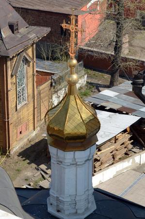 Courtyard view from bell tower of Znamensky nunnery Irkutsk
