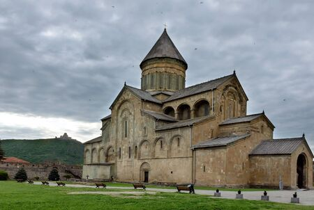 Tbilisi,GE-May,6 2019:Svetitskhoveli Cathedral Patriarchal Church in Mtskheta ancient capital. Throughout existence cathedral served for coronation and tomb representatives royal family Bagration