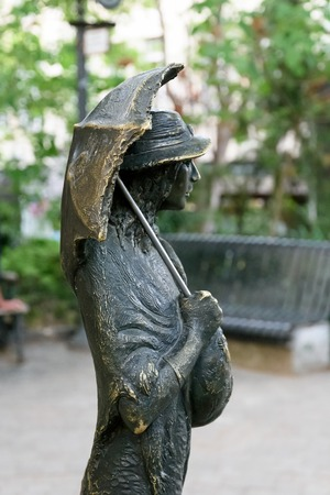 Tbilisi, Georgia-May, 07 2019: Detail of Sofiko Chiaureli Monument in Tbilisi. Figure depict role of actress Fufala from the movie The Tree of Desire 報道画像