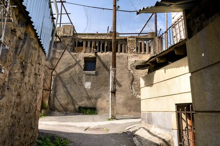 Poor residential district in center of Yerevan, Armenia 写真素材 - 138032616