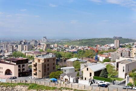 View from upper part of Cascade to center of Yerevan, Armenia 写真素材