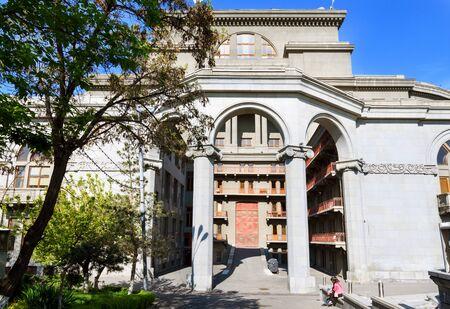 Armenian Academic Opera and Ballet Theater, side view. Yerevan 写真素材