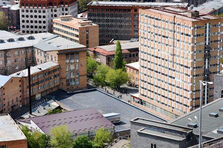 Top view of Yerevan residential district , Armenia 写真素材 - 137134911