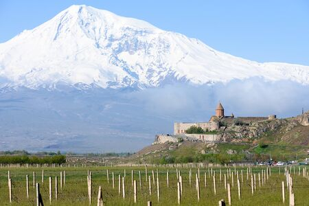 The best view of Mount Ararat from territory of Armenia