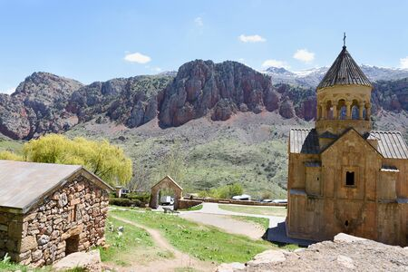 Church of Holy Virgin, Surb Astvatsatsin, in Noravank monastery complex, located in mountains near Yeghegnadzor city. Armenia