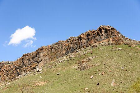 Small rocky in Shaki region on sunny day, Armenia
