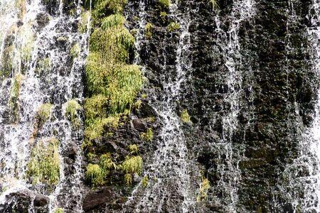 Picturesque Shaki waterfall, height 18 meters, Armenia, Syunik region, north of Sisian city