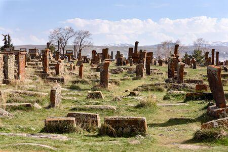Noratus - unique lagest cemetery of khachkars, Armenia