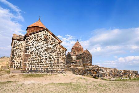 Sevanavank monastery on northwest coast of Lake Sevan, Gegharkunik province, Armenia 写真素材