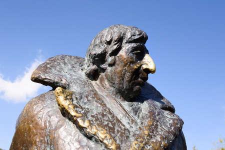 Dilijan, Armenia-May, 02 2019: Frunzik Mkrtchyan as Rubik Khachikyan, truck driver, in Monument dedicated to hero of Soviet film Mimino, Armenia 報道画像