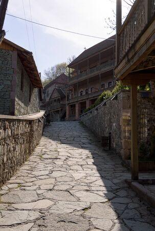 Popular tourist street in Dilijan, stylized as an old city, Armenia 写真素材