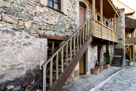 Old style street in Dilijan popular among tourists, Armenia