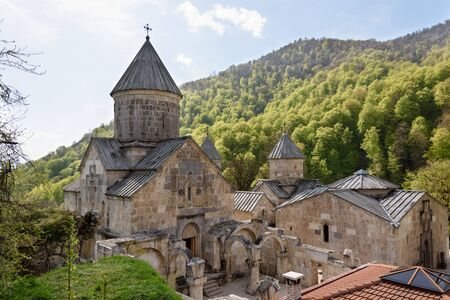Haghartsin, Eagles Game, Ancient Armenian monastery complex in Tavush region in wooded valley of Ijevan ridge. Armenia