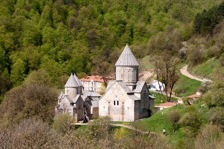 Haghartsin, Eagles Game, Ancient Armenian monastery complex in Tavush region in wooded valley of Ijevan ridge. Armenia