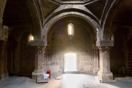 Dilijan, Armenia-May, 02 2019: interior room of Surb Astvatsatsin, Ancient Armenian monastery Haghartsin