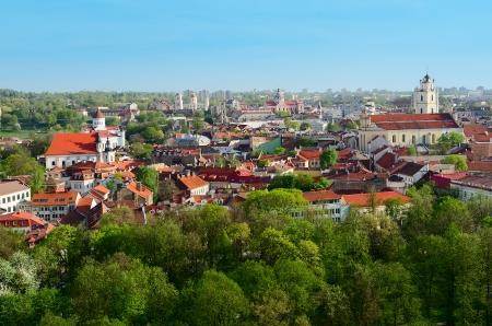 vilnius: Panorama of Vilnius  Lithuania Stock Photo