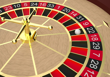 Roulette table in a casino. High resolution 3D render. photo