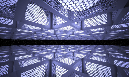 netting: luminous balls inside the metal boxes with the walls of the boxes of mesh netting