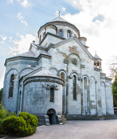 christian religion: Armenian Church of St. Ripsime stands on a high hill in Yalta. Stock Photo
