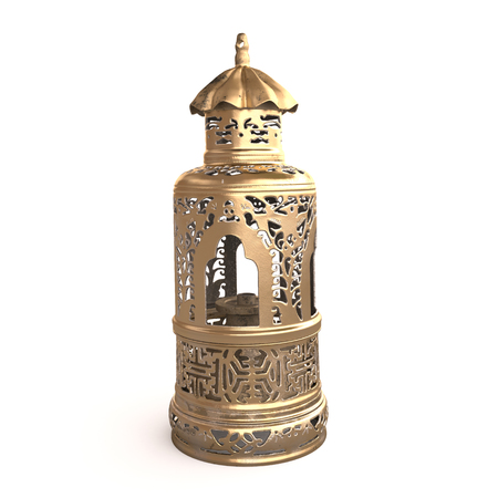 previously: Front view of the Chinese opium lamp.