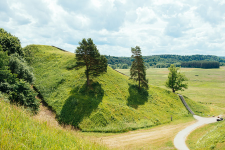 Mounds in Lithuanian national park Kernave