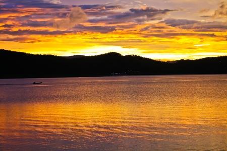 spring tide: color of sunset
