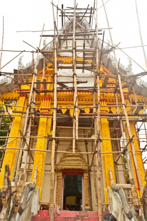 Re - construction of temple in northeast of Thailand photo
