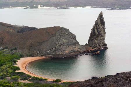 vacancier: Old Volcano, Isla Bartolom Galapagos Banque d'images