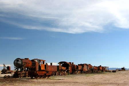 Train Cemetery near Uyuni, Bolivia Stock Photo - 3107733