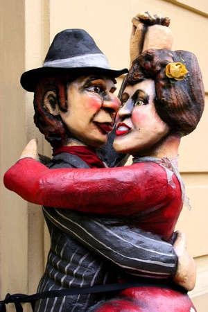 argentina dance: Tango Dancers Statue, Buenos Aires, Argentina Stock Photo