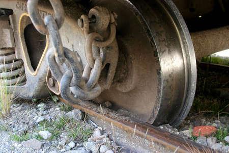railtrack: Train Derailment in Ecuador Stock Photo