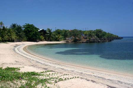 honduras: One of the beaches at Roatan, Honduras Stock Photo