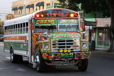 busses: Colorful Bus in Panama City, Panama