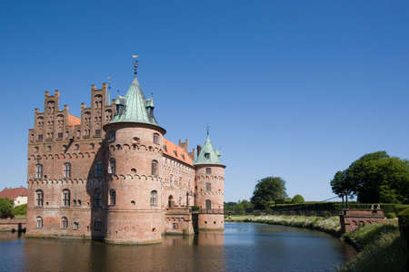 place of interest: The old Egeskov Castle on Funen, Denmark Stock Photo
