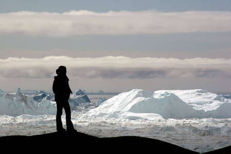 greenland: View of the Icefjord near Ilulissat, Greenland