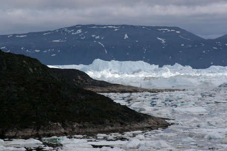 icefjord: View of the Icefjord near Ilulissat, Greenland