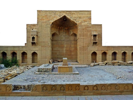 Makli Necropolis is one of the largest funerary sites in the world, spread over an area of 10 square kilometres near the city of Thatta, Pakistan. Stock Photo