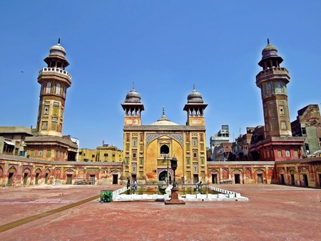 The Wazir Khan Mosque is 17th century mosque located in the city of Lahore, capital of the Pakistani province of Punjab.