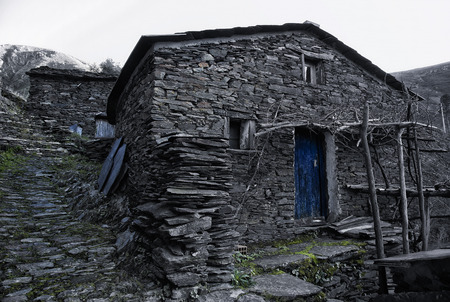 schist: Piodao is a very old little mountain village,in Arganil,portugal