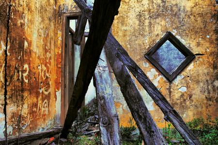 home destruction: Old house