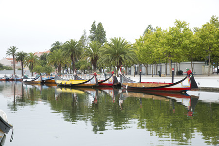ria: city reflections in the river,Aveiro Portugal