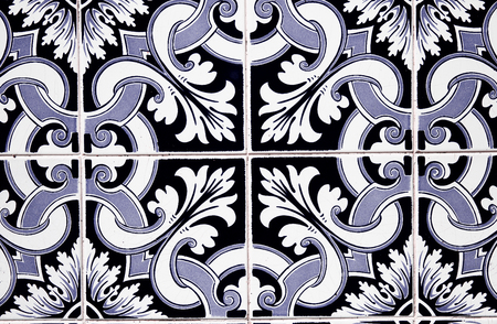 portuguese: Detail of some typical portuguese tiles