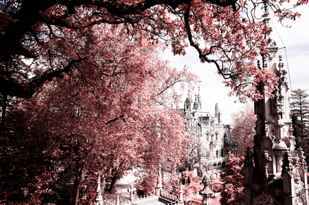 quinta: The Regaleira Palace (known as Quinta da Regaleira) located in Sintra, Portugal