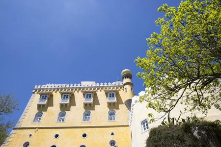 pena: Pena National Palace (Palacio Nacional da Pena) - Romanticist palace in Sao Pedro de Penaferrim. Sintra, Portugal. Palace is a UNESCO World Heritage Site and one of Seven Wonders of Portugal. Editorial